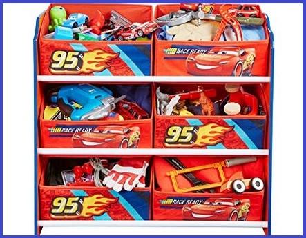 Contenitore per giocattoli disney cars