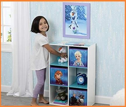 Contenitore per giocattoli frozen pouf