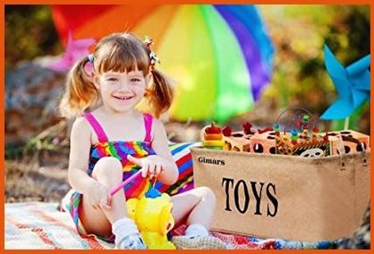 Contenitore per giocattoli grande juta