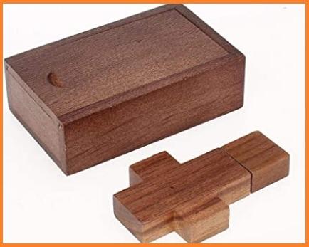Pen drive memory stick croce legno