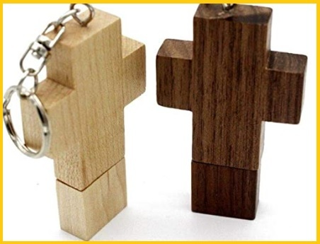 64gb Croce Di Legno Pen Drive Usb Flash