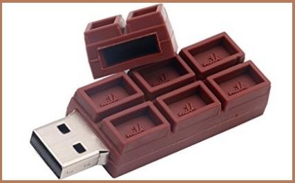Flash Drive A Forma Di Tavoletta Cioccolato