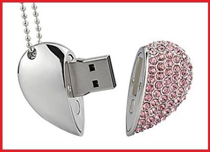 Pendrive cuore con diamanti
