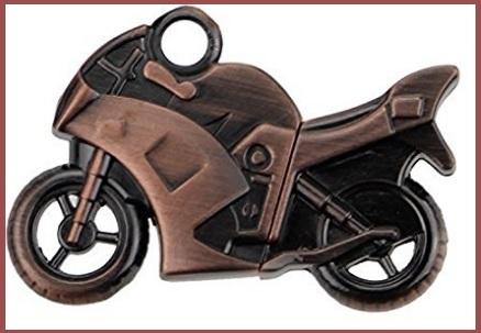 Chiavetta usb motociclo in metallo
