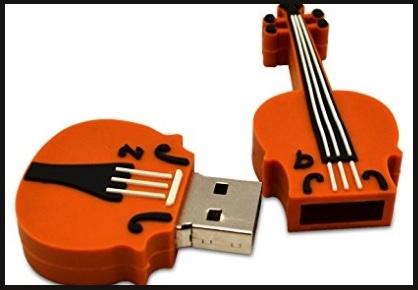 Strumento musicale violino flash drive
