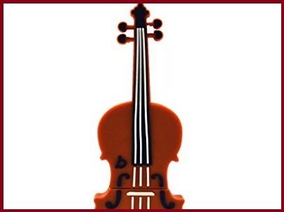 Chiavetta usb violino marrone