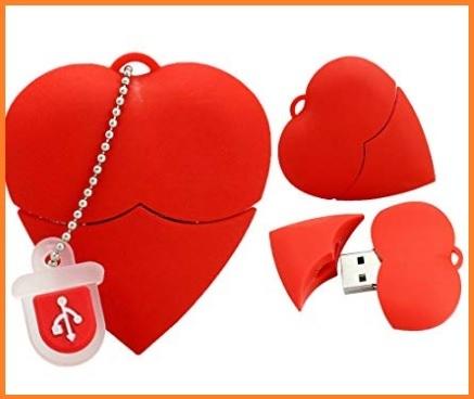 Chiavetta a forma di cuore rosso