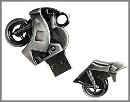 Chiavetta usb a forma di moto in metallo