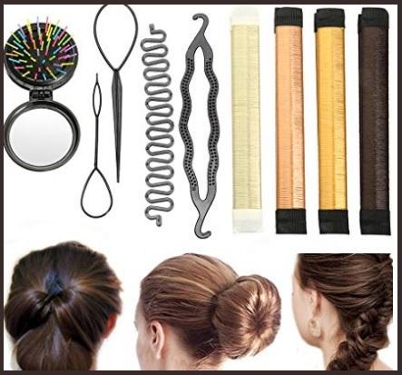 Chignon capelli lunghi accessori
