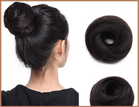 Chignon capelli lisci naturale