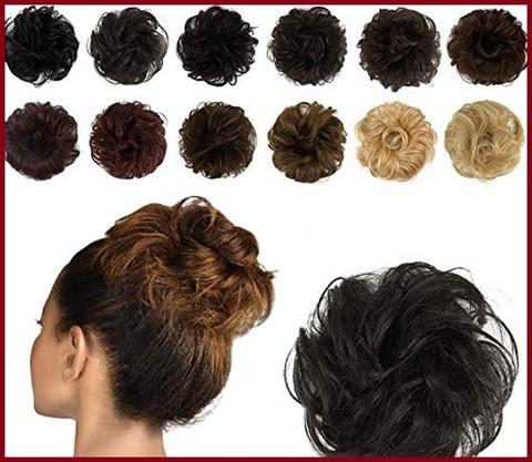Chignon capelli ricci naturale