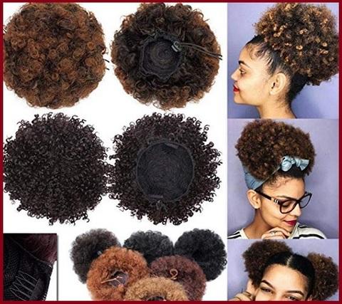 Chignon capelli ricci elastico