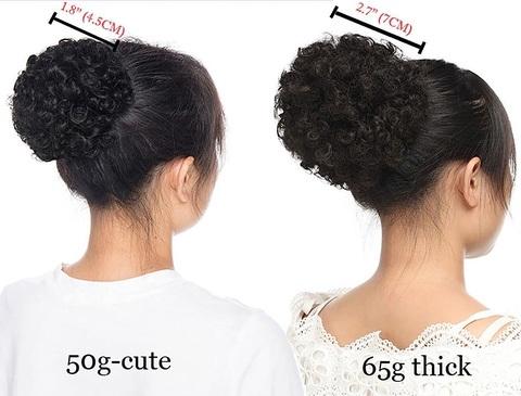 Chignon capelli veri afro
