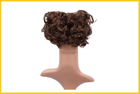 Chignon per capelli corti ricci