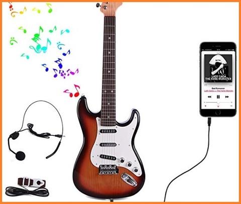 Chitarra elettrica bambini con microfono