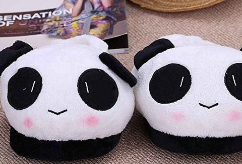 Ciabatte a forma di panda unisex