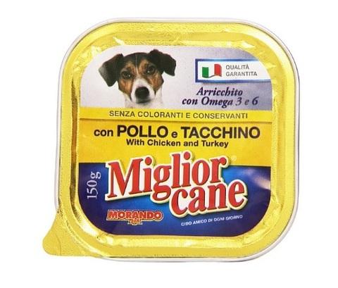 Scatoletta alimento per cani con pollo tacchino e omega 3-6