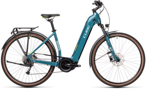 Cube Touring Hybrid One 500 Blue N Green Ee Xs 46