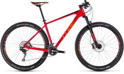 "Cube mtb reaction carbon c:62 race 19"" 29"" red n orange 2018"