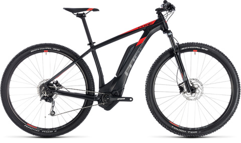 Cube ebike reaction hybrid one 500 black n red 19