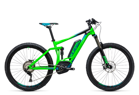 Cube Stereo Hybrid 140 Hpa Pro 400 27.5 Flashgreen Berm 18""