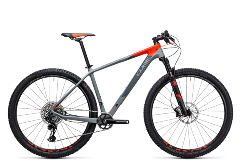 Cube mtb reaction gtc eagle 1x grey n flashred 2017 19