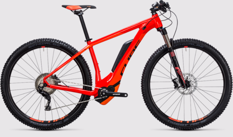 Cube E-bike Reaction Hybrid Hpa Sl 500 Red N Flashora 16""