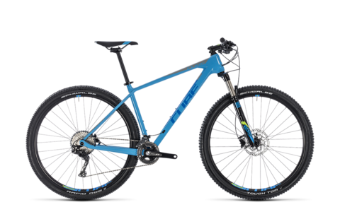 "Cube mtb reaction c:62 blue n grey 2018 17"" 29"