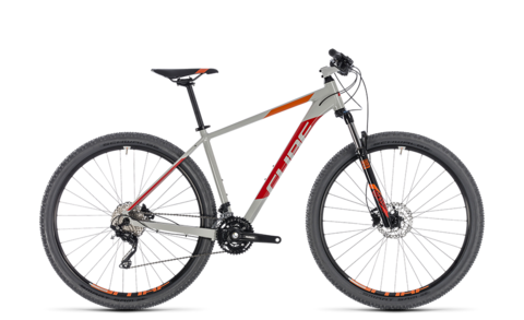"Cube mtb attention grey n red 2018 18"" 27,5"" 