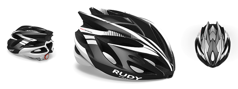 Rudy project rush black/white shiny m 54/58