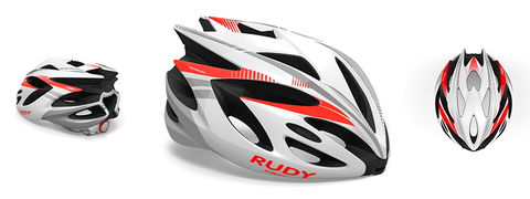 Rudy project rush white/red fluo shiny l 59/62