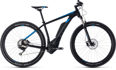 "Cube E-bike Reaction Hybrid Race 500 29"" 19"" Black N Blue"