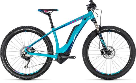 "Cube E-bikeaccess Hybrid Race 500 Turquoise N Raspberry"" 17"""