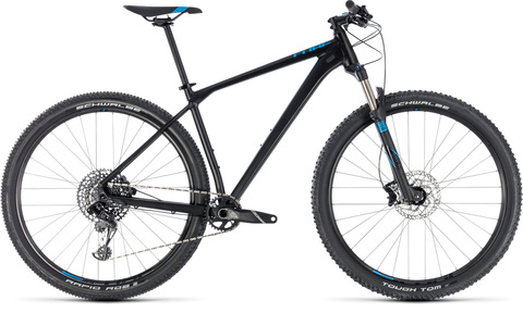 "Cube mtb reaction race black n blue 29"" 21"" 2018"