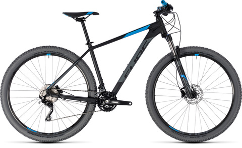"Cube mtb attention black n blue 17"" 29"" 2018"