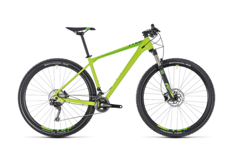Cube mtb reaction pro green n black 2018 21