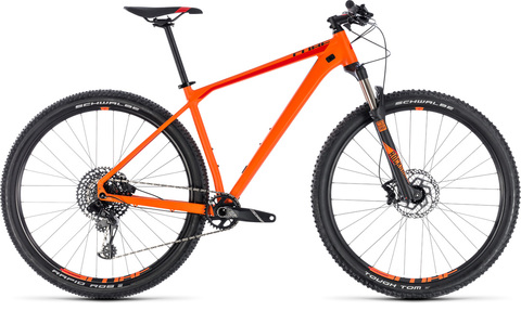 "Cube mtb reaction race orange n red 29"" 17"" 2018"