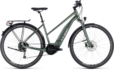 Cube Ebike Touring Hybrid One 400 Frostgreen N Silver 46 Tra