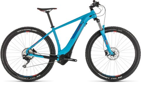 Cube ebike reaction hybrid exc 500 blue n red 19