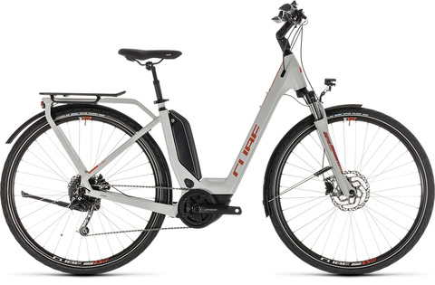 Cube ebike touring hybrid 500 grey n or. 2019 easy entry 50