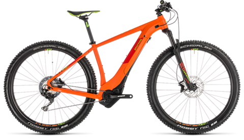 "Cube reaction hybrid sl 500 kiox 29"" orange n green 17"" 