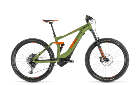 Cube Stereo Hybrid 140 Race 500 27.5 Green N Orange 20""
