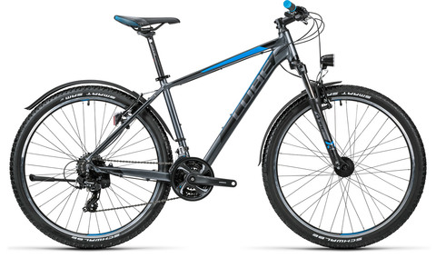 Cube Aim Allroad  27.5 Grey N Blue 18""