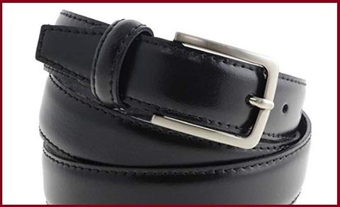 Cintura elegante nera uomo