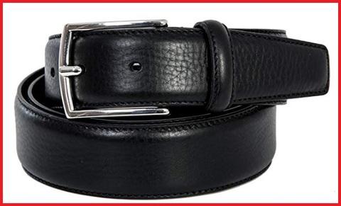 Cintura elegante nera in pelle