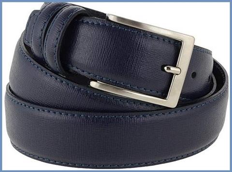 Cintura elegante blu uomo