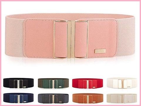 Cintura elegante rosa elastica