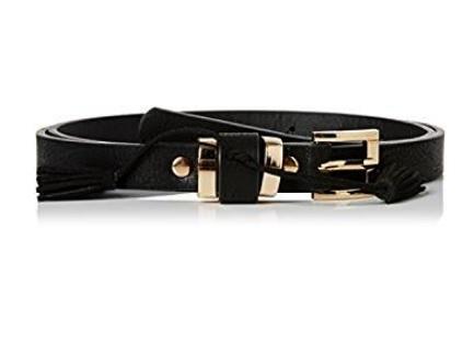 Cintura new look nera e fibbia oro
