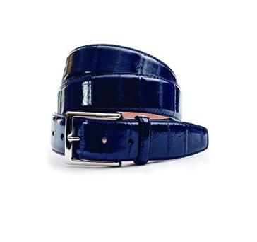 Cintura da uomo in pelle di anguilla realizzata in mano