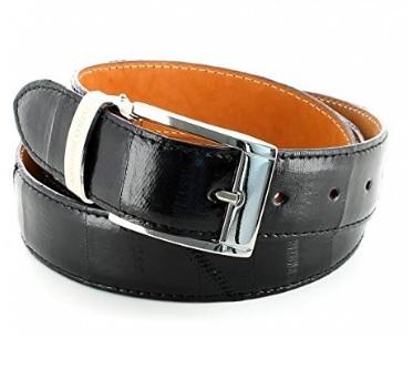 Cintura alla moda in pelle di anguilla con fibbia in metallo